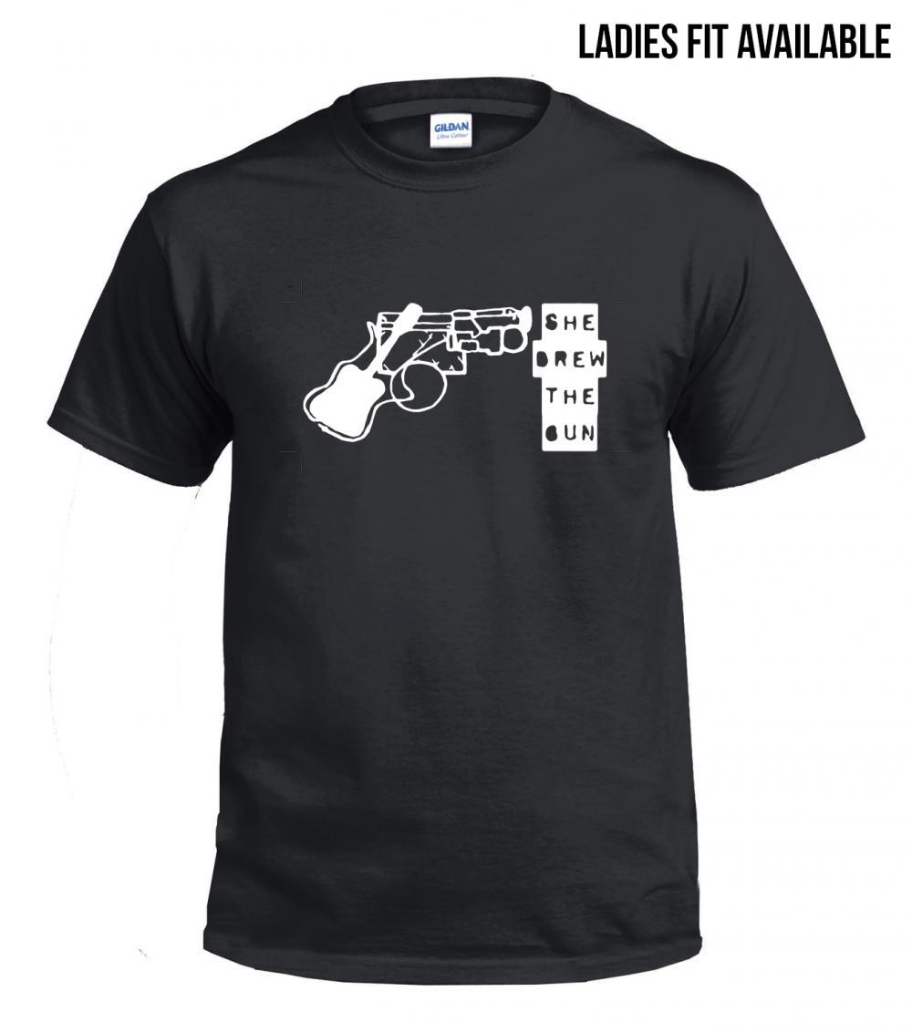Buy Online She Drew The Gun - Logo T-Shirt