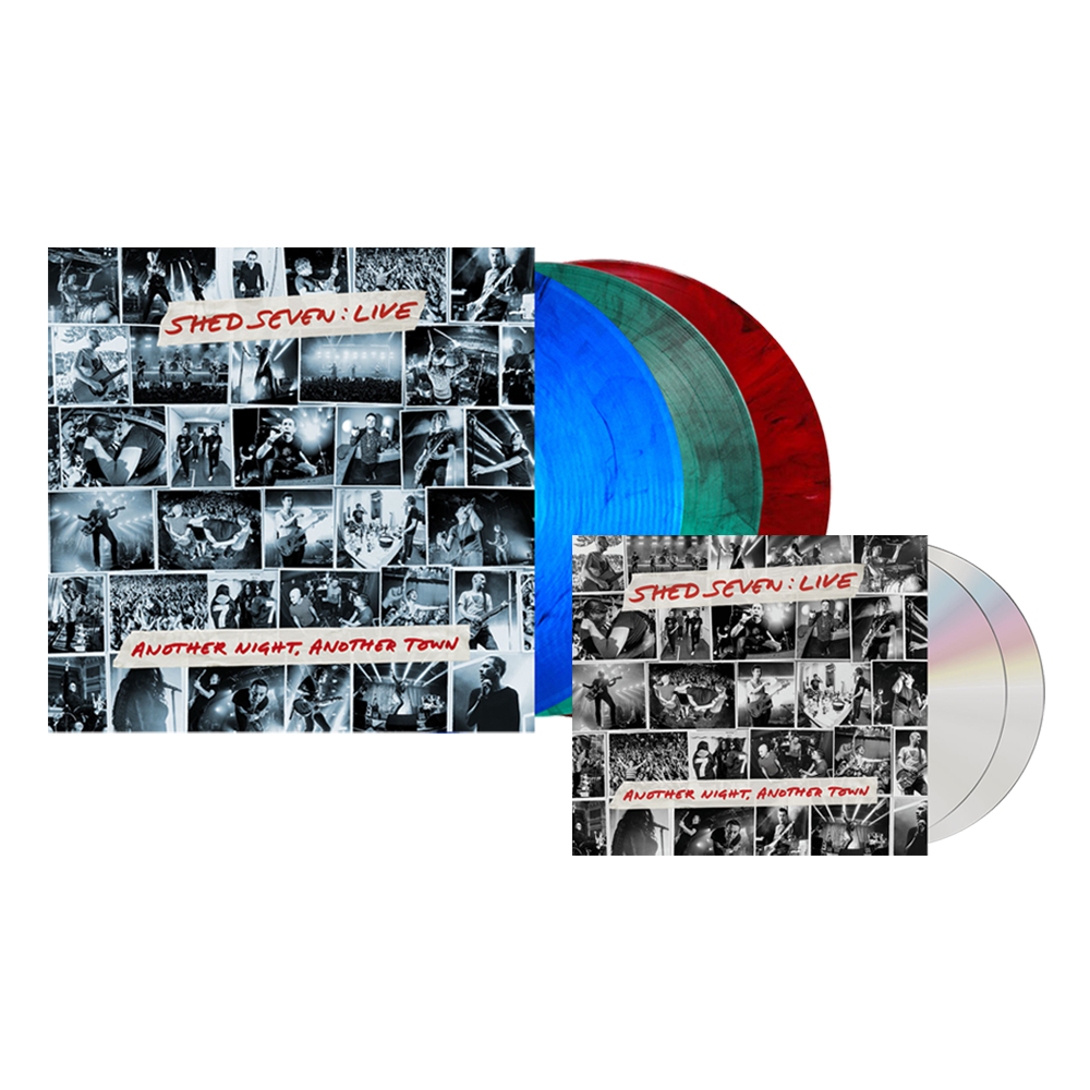 Buy Online Shed Seven - Another Night, Another Town 2CD Album (Signed) + Smoke Coloured Triple Vinyl (SIgned)