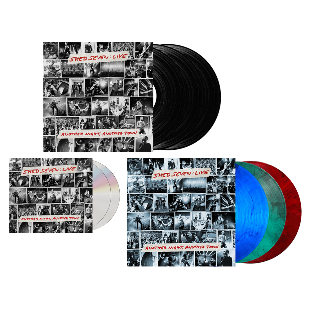 Buy Online Shed Seven - Another Night, Another Town 2CD Album (Signed) + Smoke Coloured Triple Vinyl (Signed) + Black Triple Vinyl (Signed)