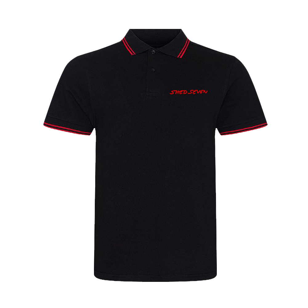 Buy Online Shed Seven - Mens Shed Seven Red Piping Polo Shirt