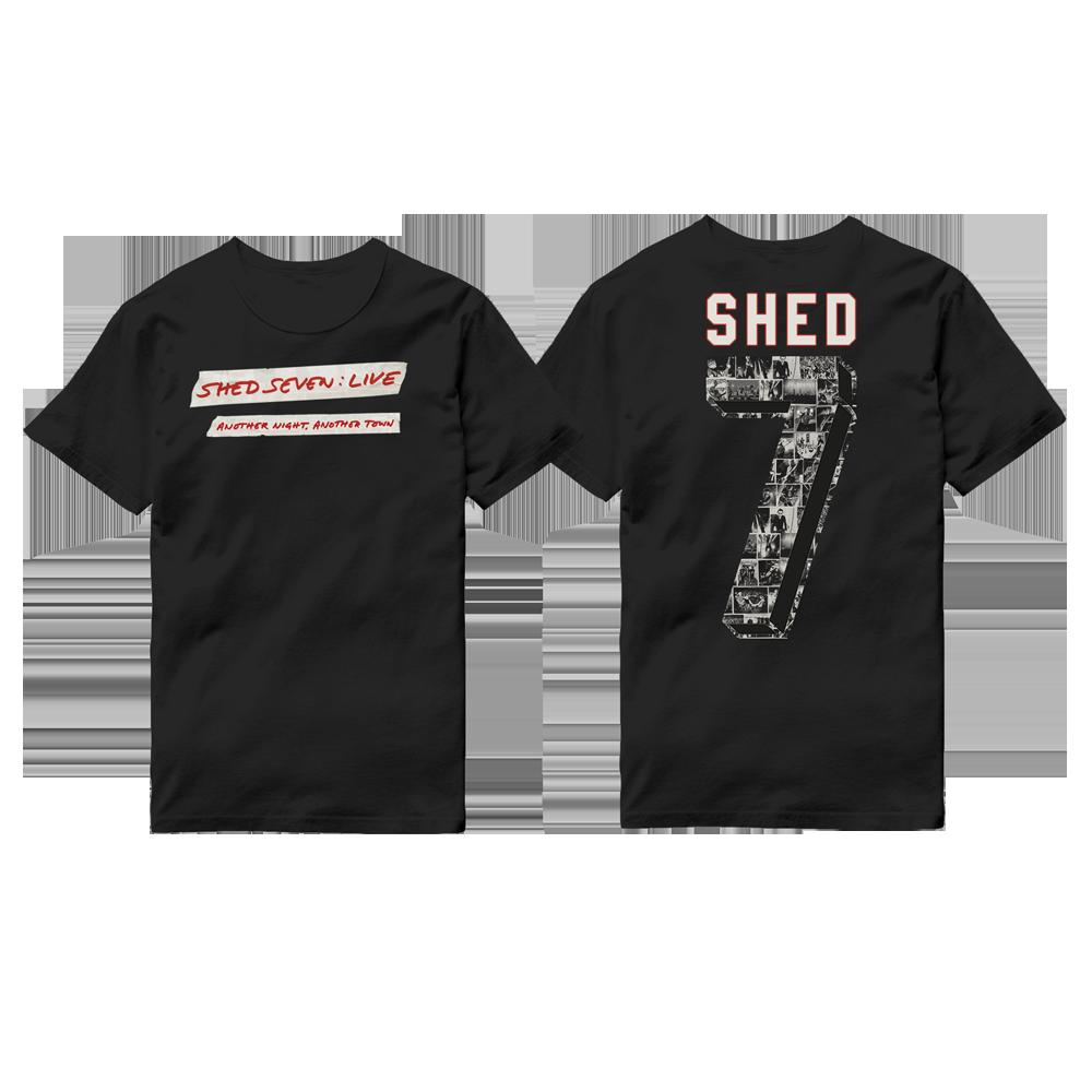 Buy Online Shed Seven - Shed Seven Live Logo T-Shirt