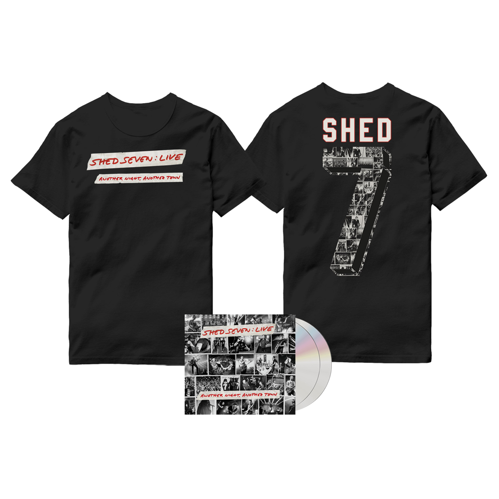 Buy Online Shed Seven - Another Night, Another Town 2CD Album (Signed) + Live Logo T-Shirt