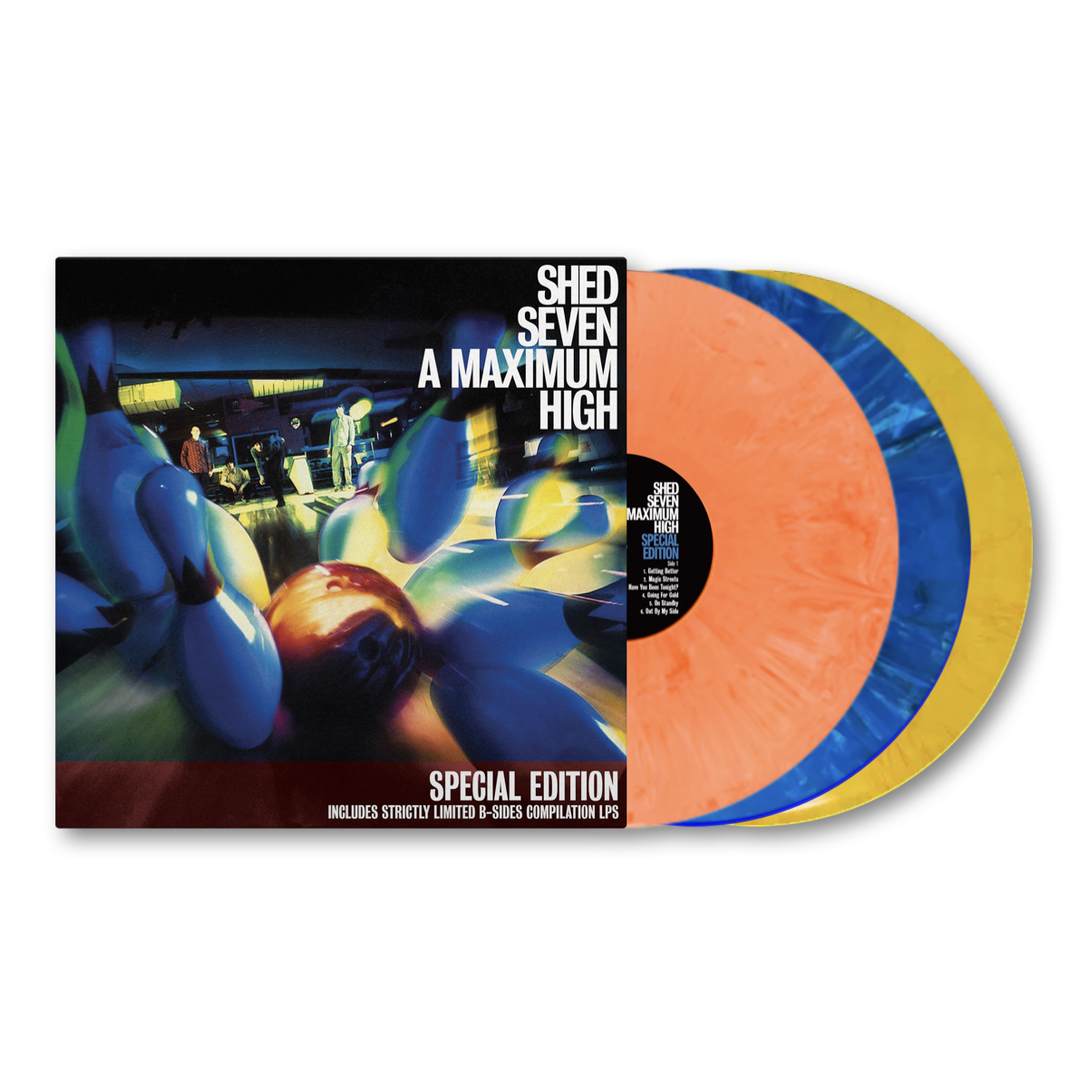 Buy Online Shed Seven - A Maximum High 25th Anniversary - Bowling Ball Coloured Triple Vinyl