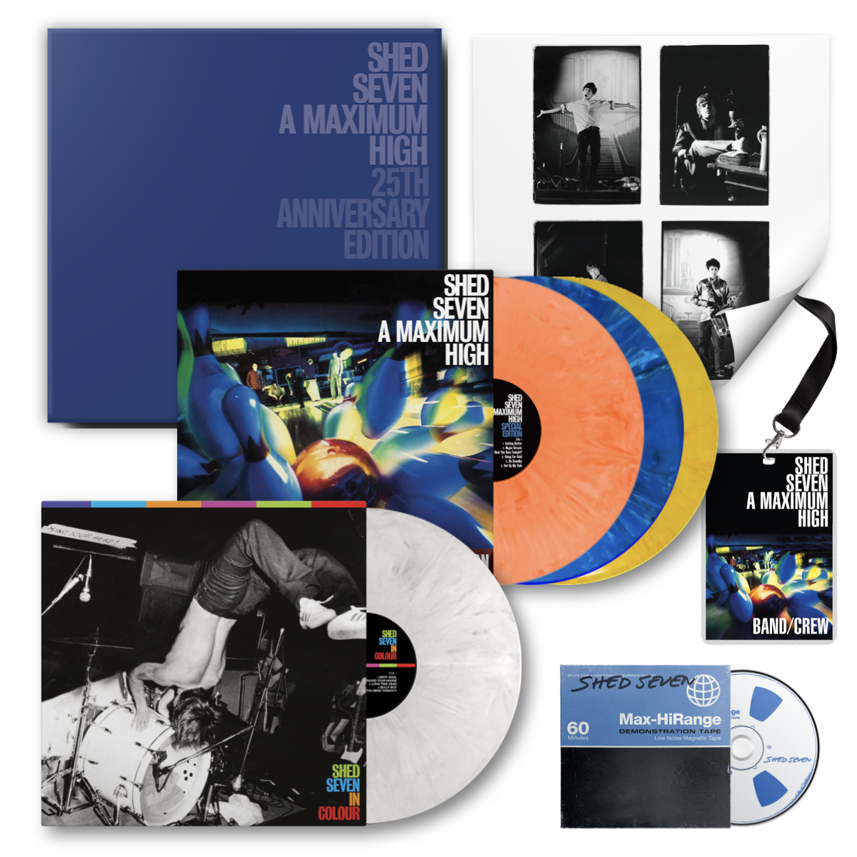 Buy Online Shed Seven - A Maximum High 25th Anniversary Edition Boxset (Includes Signed Art Print)