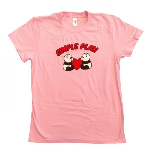Buy Online Simple Plan - Ladies Pink Panda T-Shirt