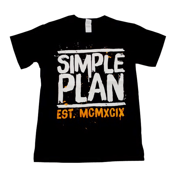 Buy Online Simple Plan - Roman Numerals T-Shirt