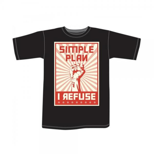 Buy Online Simple Plan - I Refuse T-Shirt