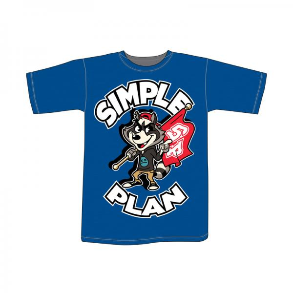 Buy Online Simple Plan - Ladies Fit Blue Raccoon T-Shirt