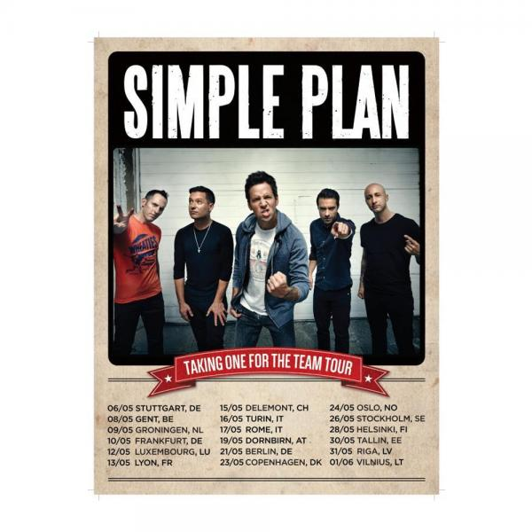 Buy Online Simple Plan - Signed Taking One For The Team Tour Poster