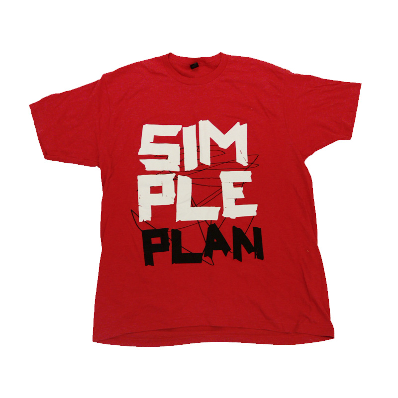 Buy Online Simple Plan - Red Tape T-Shirt