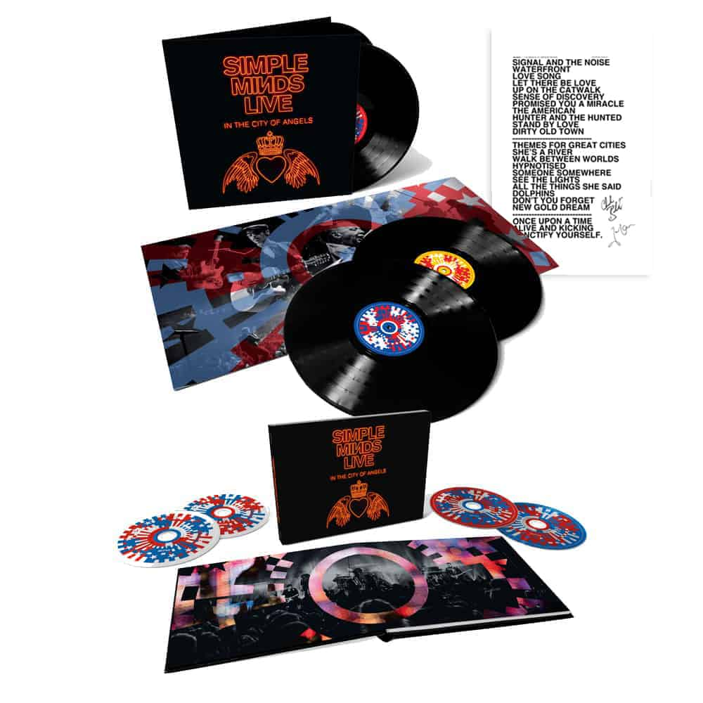 Buy Online Simple Minds - Live In The City Of Angels Deluxe 4CD Album + 4 Vinyl Quadpack + Signed Set List Bundle