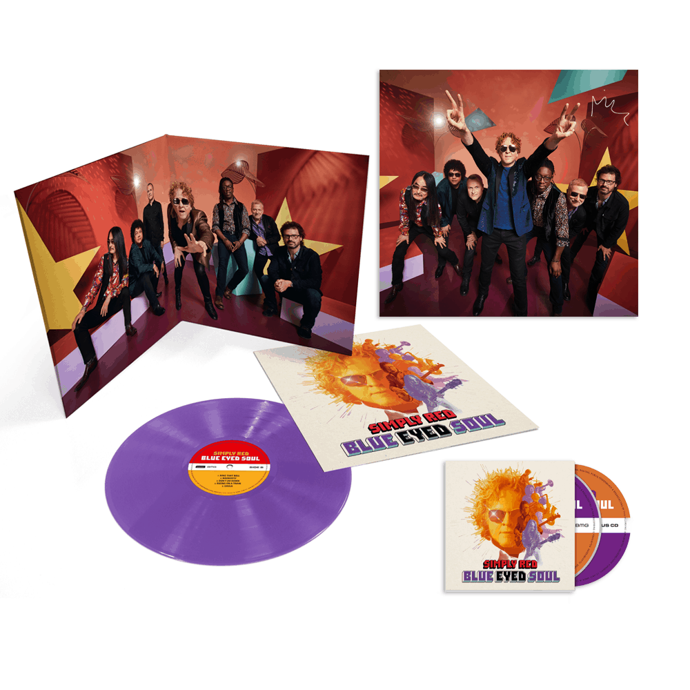 Buy Online Simply Red - Blue Eyed Soul Purple Vinyl + Deluxe CD + Print By Mick Hucknall
