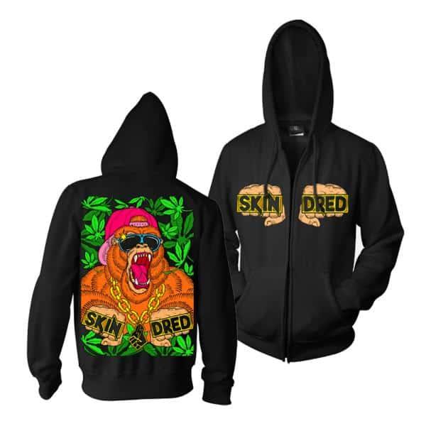 Buy Online Skindred - Gorilla Zip Hoody