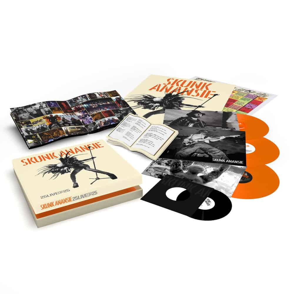 Buy Online Skunk Anansie - 25LIVE@25 3LP Orange Vinyl Boxset (Signed)