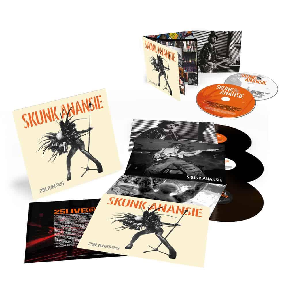 Buy Online Skunk Anansie - 25LIVE@25 2CD Album + 3LP Vinyl + 12 x 12 Inch Artwork Print (Signed)