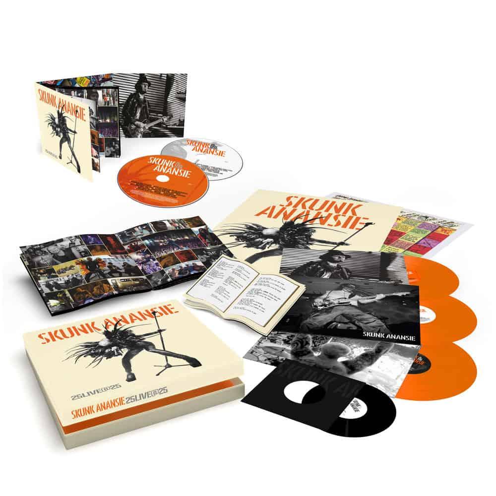 Buy Online Skunk Anansie - 25LIVE@25 3LP Orange Vinyl Boxset (Signed) + Deluxe 2CD Album (Signed)