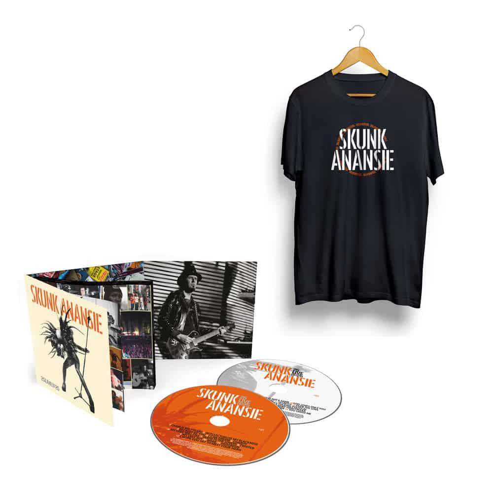 Buy Online Skunk Anansie - 25LIVE@25 Deluxe 2CD Album (Signed) + T-Shirt