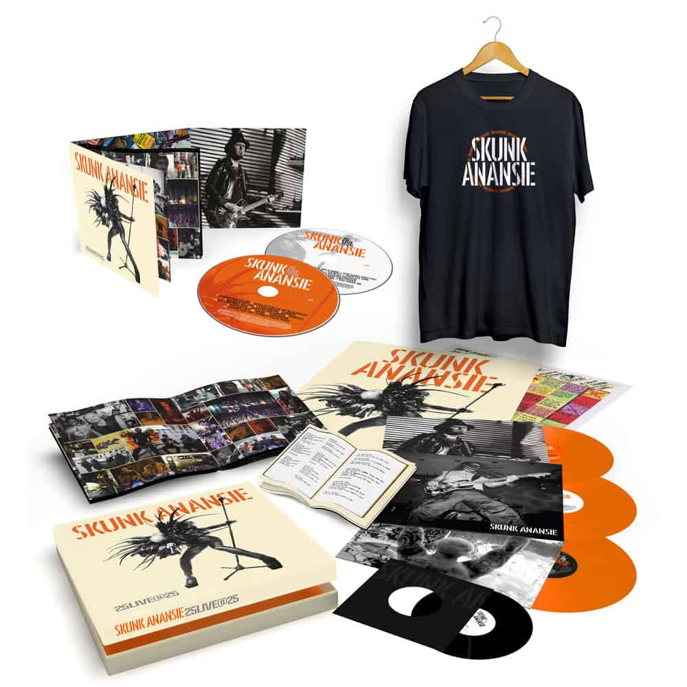 Buy Online Skunk Anansie - 25LIVE@25 3LP Coloured Vinyl Boxset (Signed) + Deluxe 2CD Album (Signed) + T-Shirt