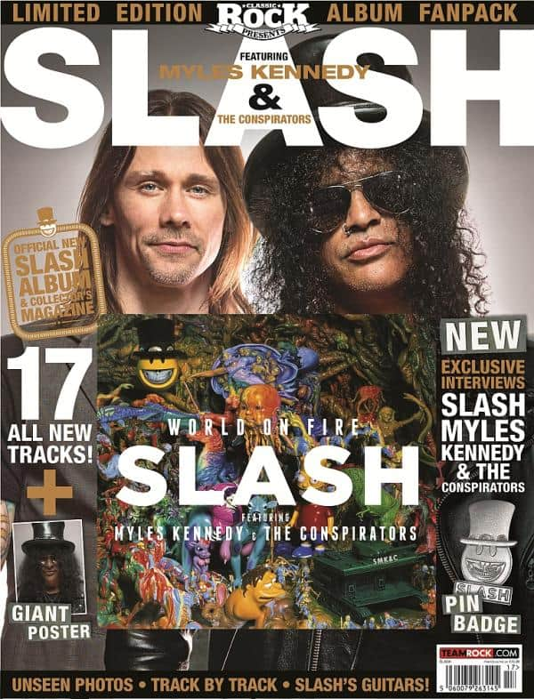 "Buy Online Classic Rock Presents: Slash featuring Myles Kennedy and the Conspirators ""World on Fire"" Fanpack"