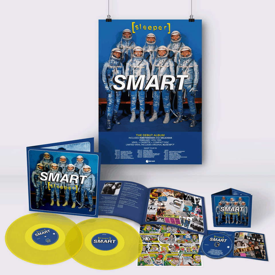 Buy Online Sleeper - Smart (25th Anniversary Reissue) Yellow Double Vinyl (Inc Signed, Numbered Print) + CD (Signed) + A2 Tour Poster (Signed & Hand Numbered)