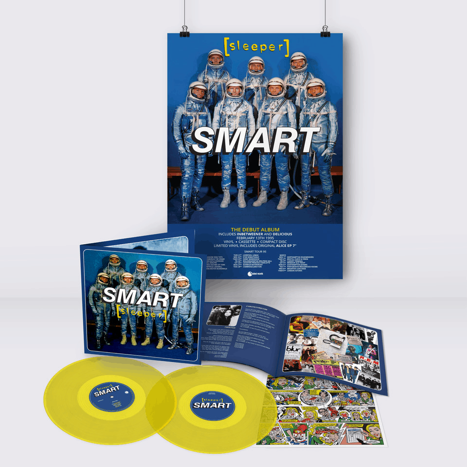 Buy Online Sleeper - Smart (25th Anniversary Reissue) Yellow Double Vinyl (Inc Signed, Numbered Print) + A2 Tour Poster (Signed & Hand Numbered)
