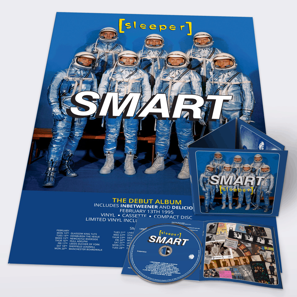 Buy Online Sleeper - Smart (25th Anniversary Reissue) CD (Signed) + A2 Tour Poster (Signed & Hand Numbered)