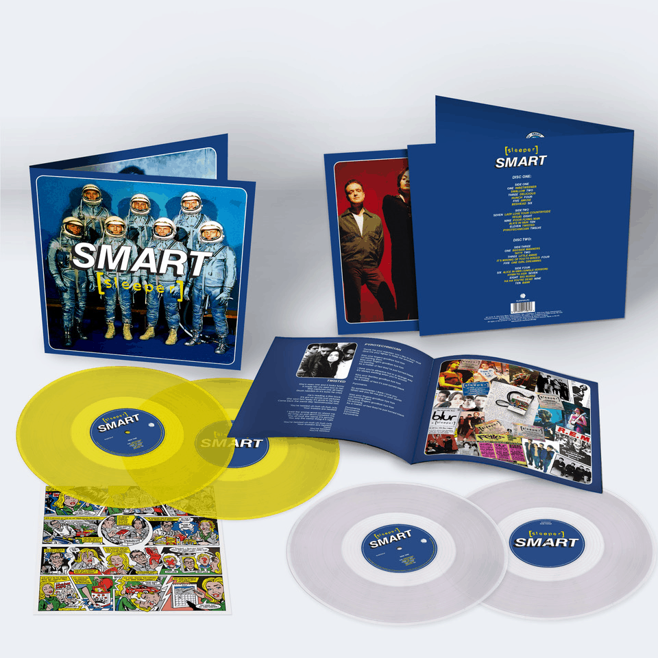 Buy Online Sleeper - Smart (25th Anniversary Reissue) Yellow Double Vinyl (Inc Signed, Numered Print) + Clear Double Vinyl