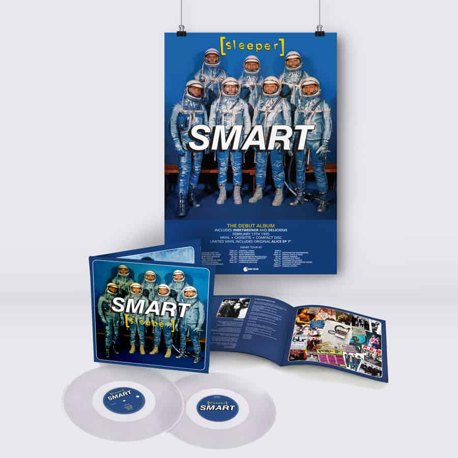 Buy Online Sleeper - Smart (25th Anniversary Reissue) Double Clear Vinyl + A2 Tour Poster (Signed & Hand Numbered)