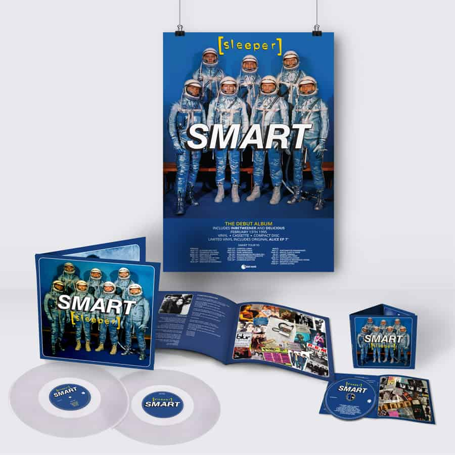 Buy Online Sleeper - Smart (25th Anniversary Reissue) Double Clear Vinyl + CD (Signed) + A2 Tour Poster (Signed & Hand Numbered)