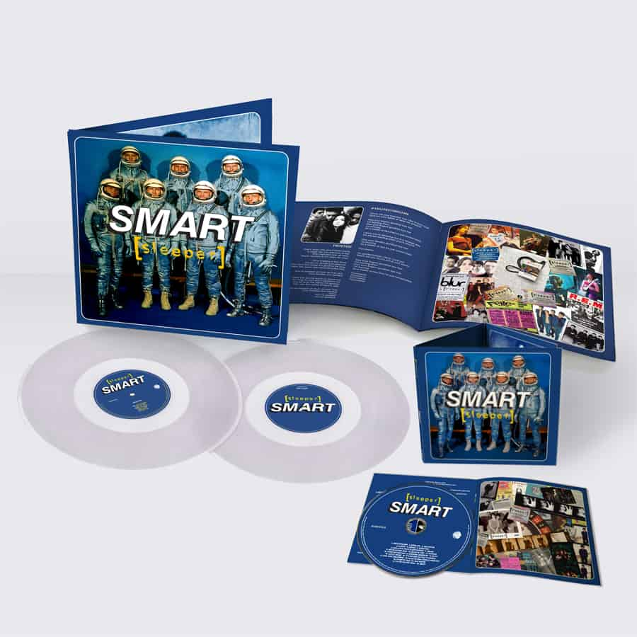 Buy Online Sleeper - Smart (25th Anniversary Reissue) Double Clear Vinyl + CD (Signed)