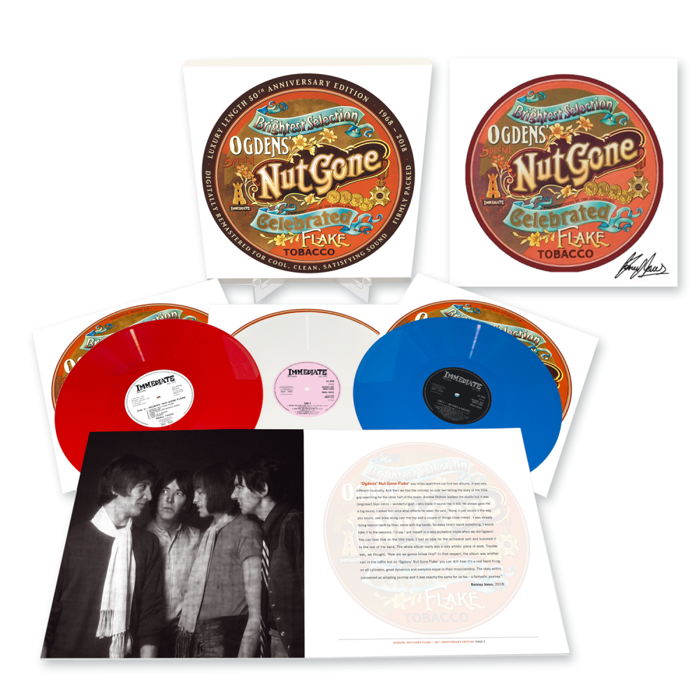 Buy Online Small Faces - Ogdens' Nut Gone Flake - 50th Anniversary 3LP Boxset + 12 x 12 Art Print Signed by Kenney Jones