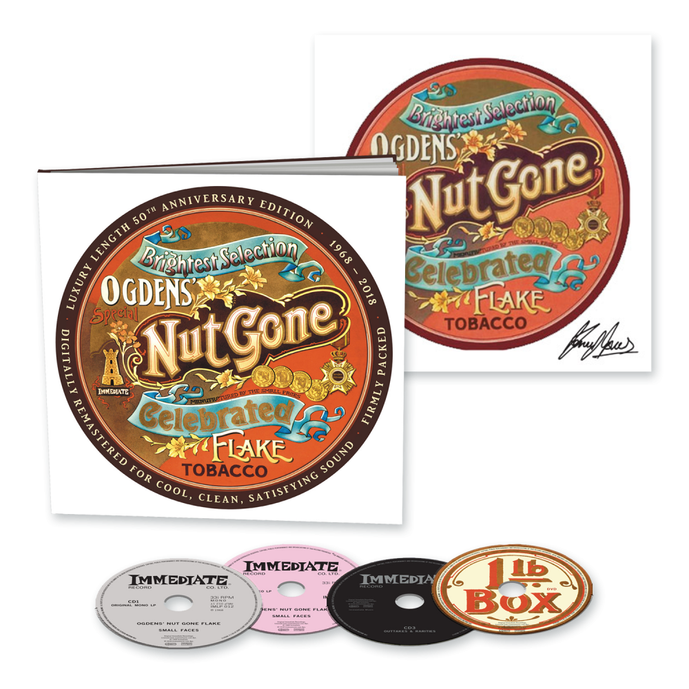 Buy Online Small Faces - Ogdens' Nut Gone Flake - 50th Anniversary 3CD + DVD Earbook + 12 x 12 Art Print Signed by Kenney Jones