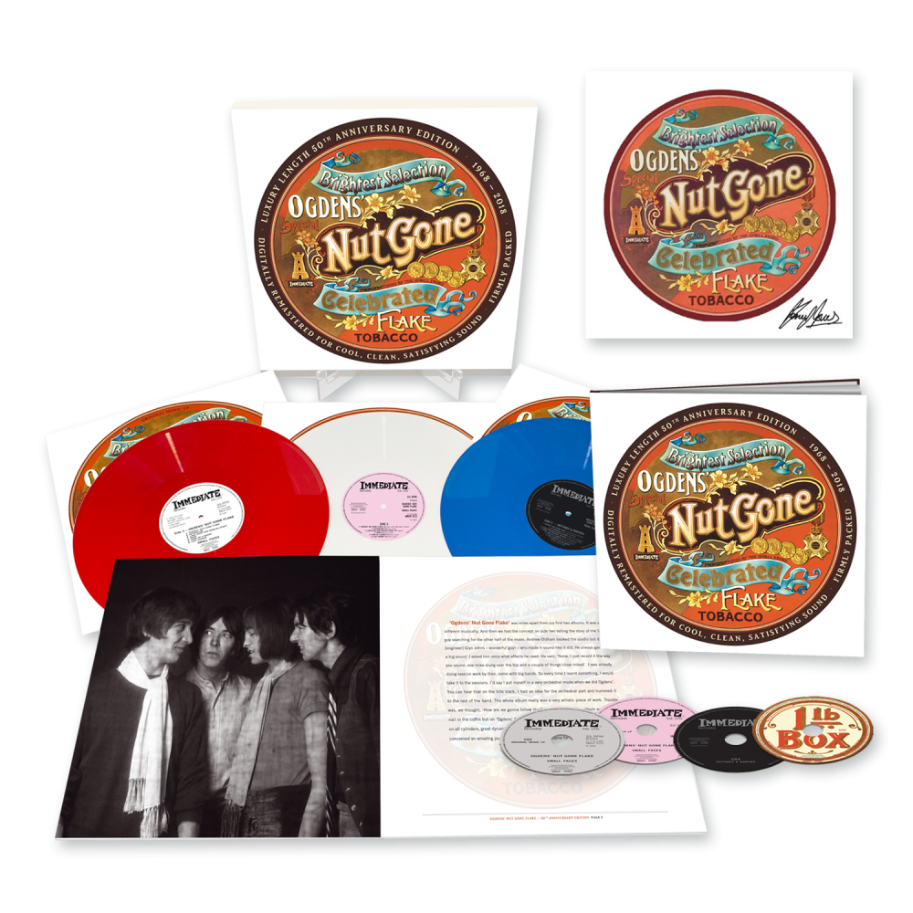 Buy Online Small Faces - Ogdens' Nut Gone Flake - 50th Anniversary 3LP Boxset + 3CD/DVD Earbook + 12 x 12 Art Print by Kenney Jones