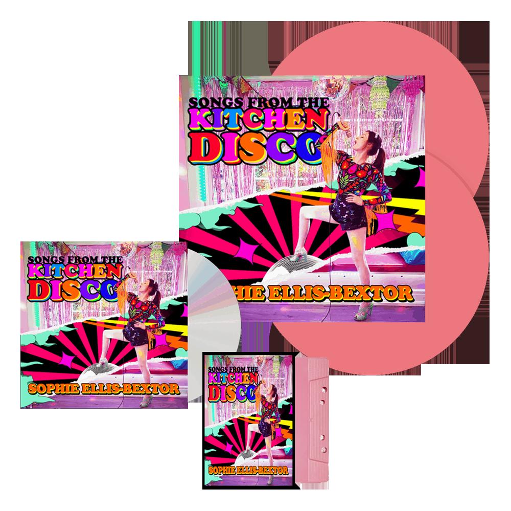 Buy Online Sophie Ellis-Bextor - Songs From The Kitchen Disco Pink Double Vinyl (Exclusive) + CD + Pink Cassette (Exclusive)