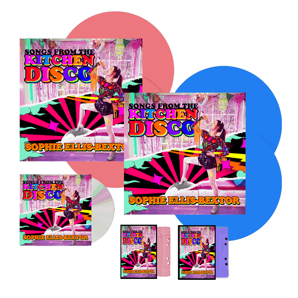 Buy Online Sophie Ellis-Bextor - Songs From The Kitchen Disco Pink Double Vinyl (Exclusive) + Blue Vinyl + CD + Both Cassettes (Exclusive)