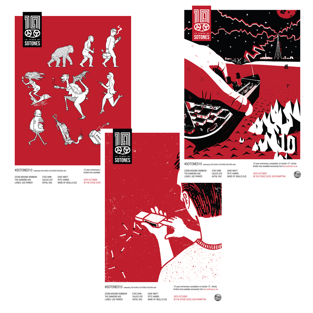 Buy Online Sotones - Sotones Ten A3 Posters