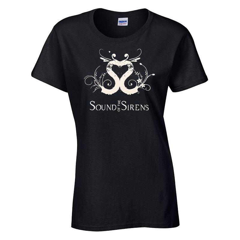 Buy Online Sound Of The Sirens - Ladies Black Logo T-Shirt