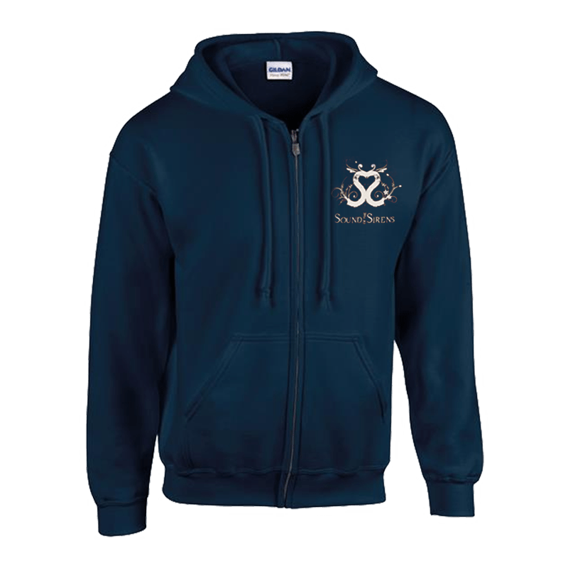 Buy Online Sound Of The Sirens - Navy Logo Hoody