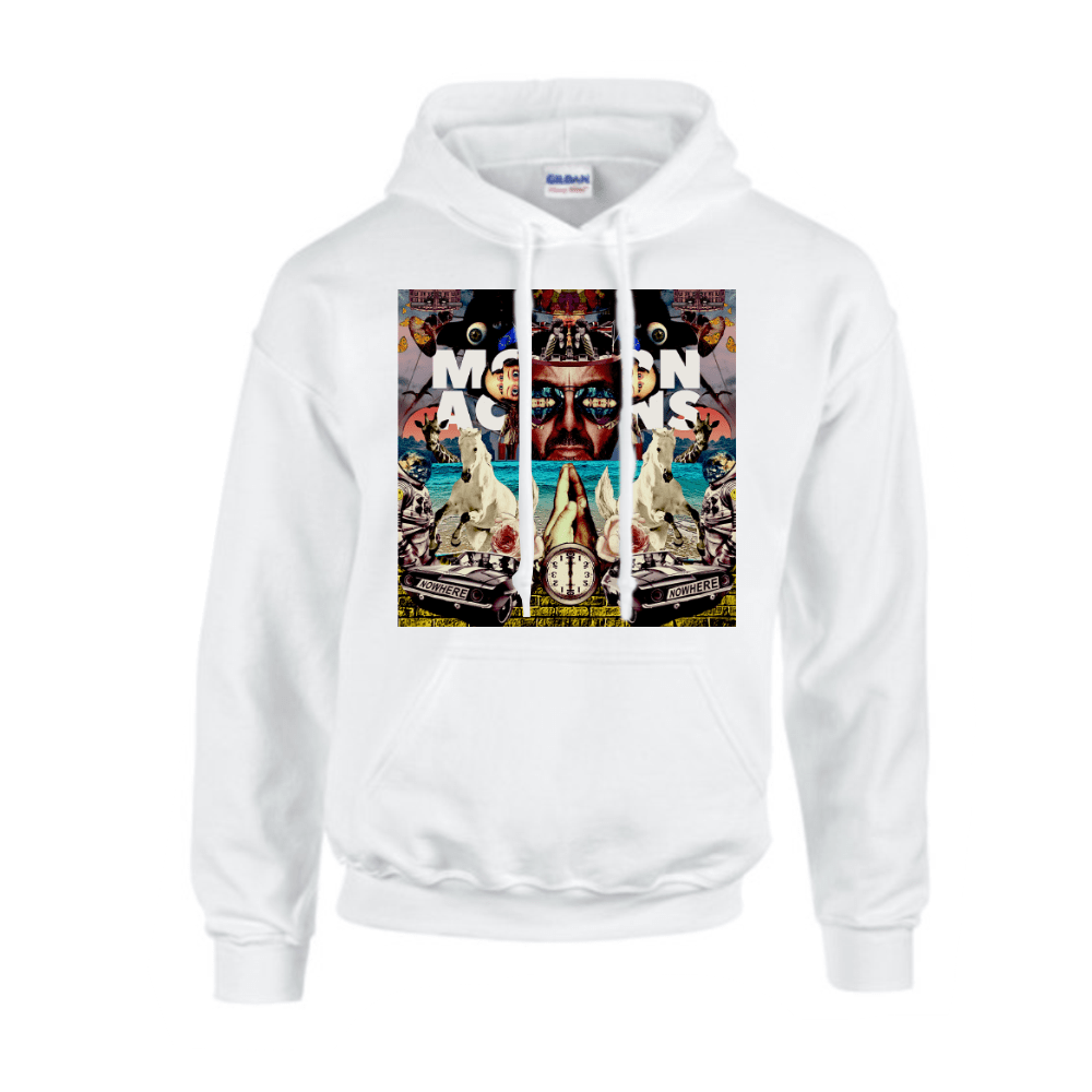 Buy Online Space Monkeys - White Album Hoodie