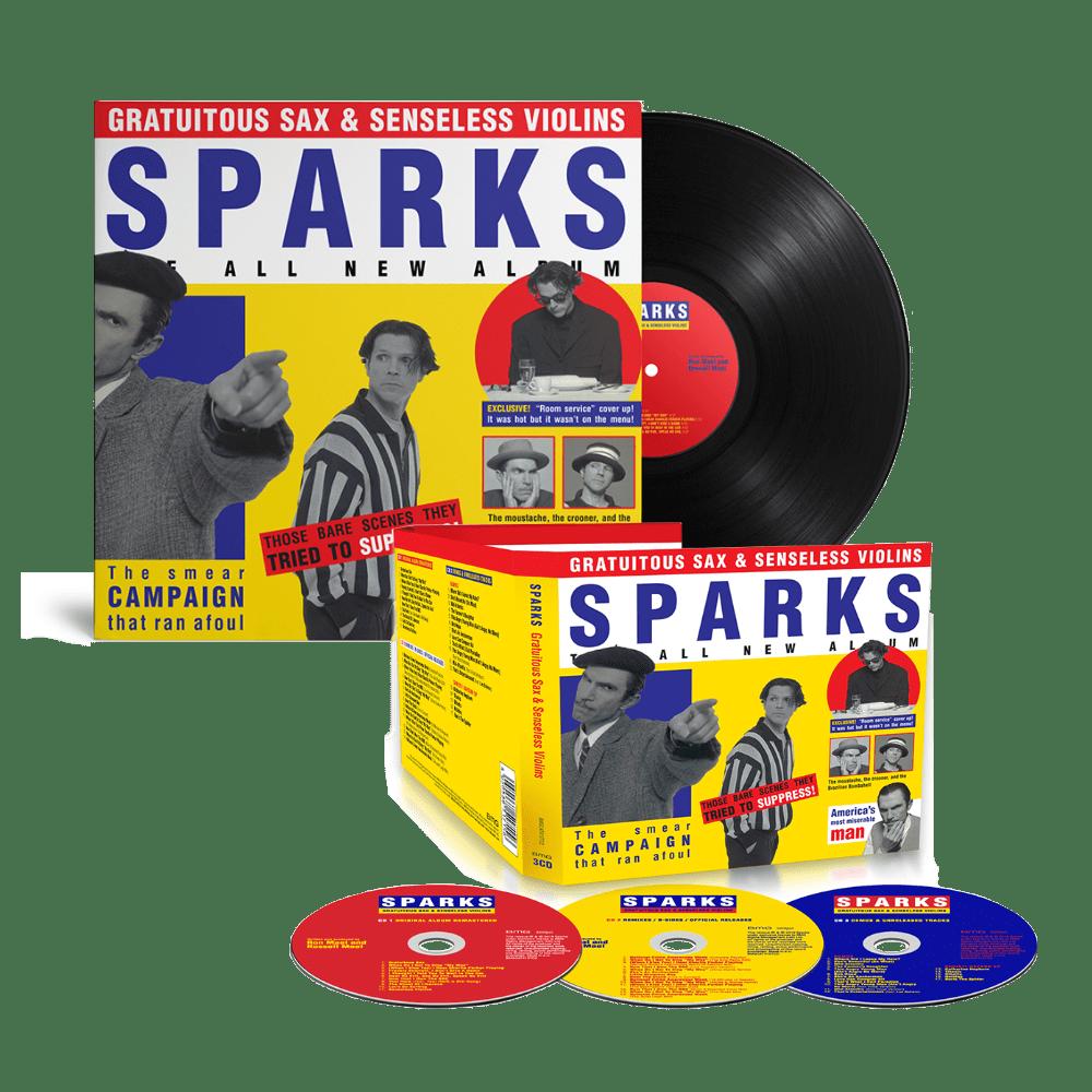 Buy Online Sparks - Gratuitous Sax & Senseless Violins Triple CD + Black Vinyl