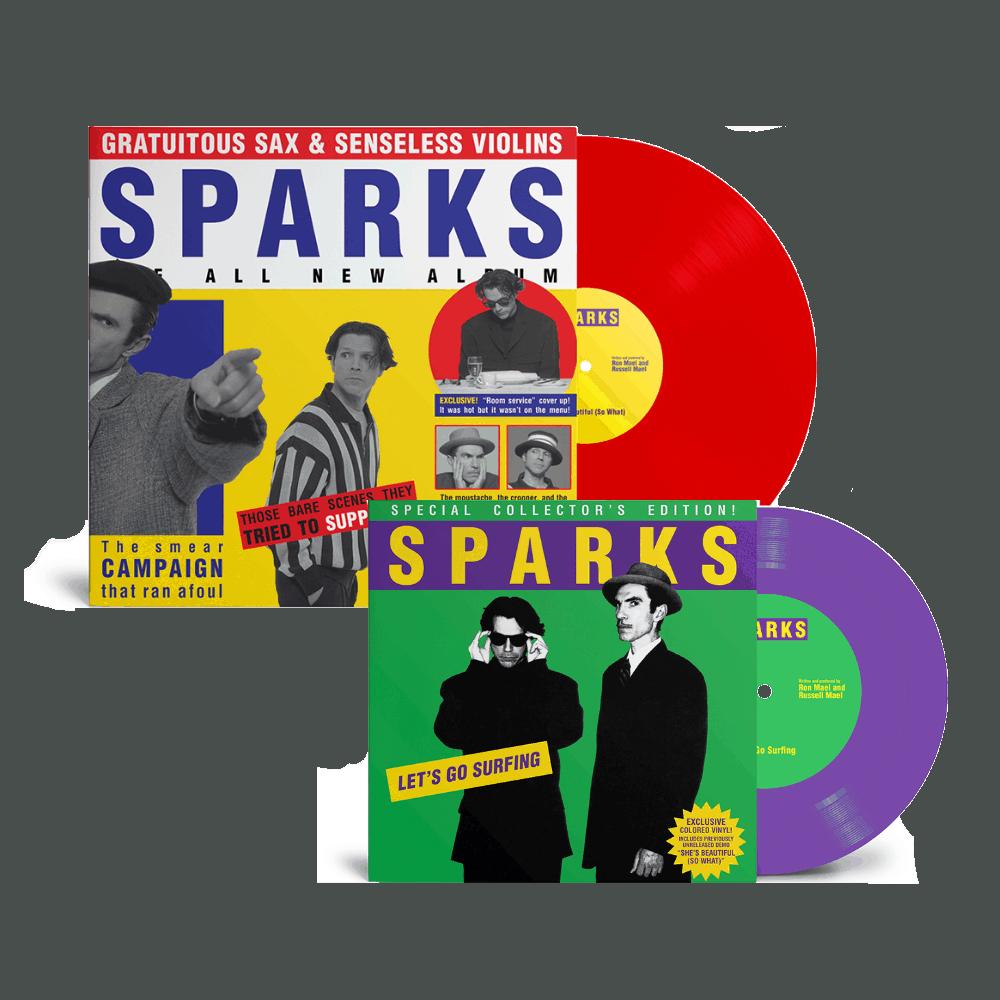 Buy Online Sparks - Gratuitous Sax & Senseless Violins Red Vinyl + Purple 7-Inch