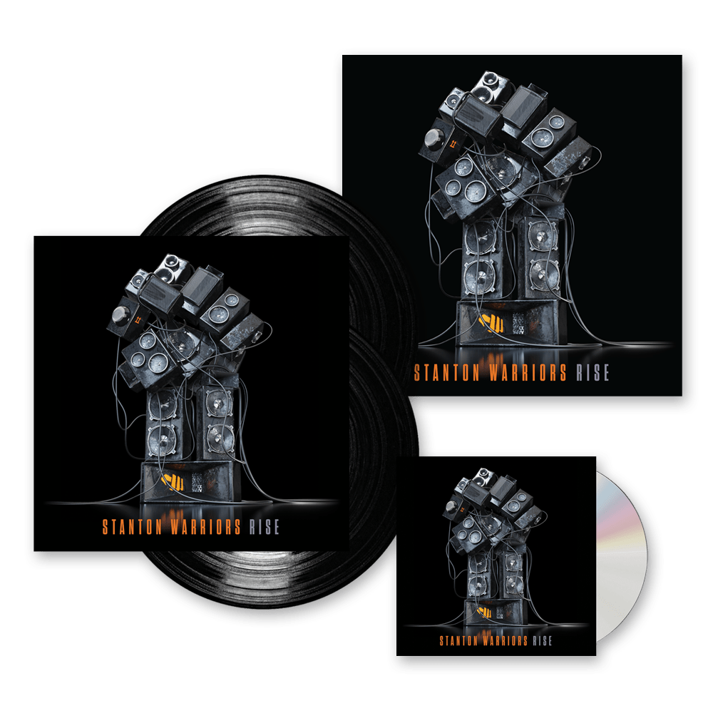 Buy Online Stanton Warriors - Rise CD Album (Includes Rise DJ Mix CD) (Signed) + Double Vinyl (Signed) + Artwork Print (Signed)