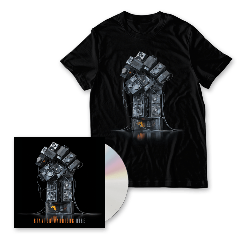 Buy Online Stanton Warriors - Rise CD Album (Includes Rise DJ Mix CD) + Album Art T-Shirt