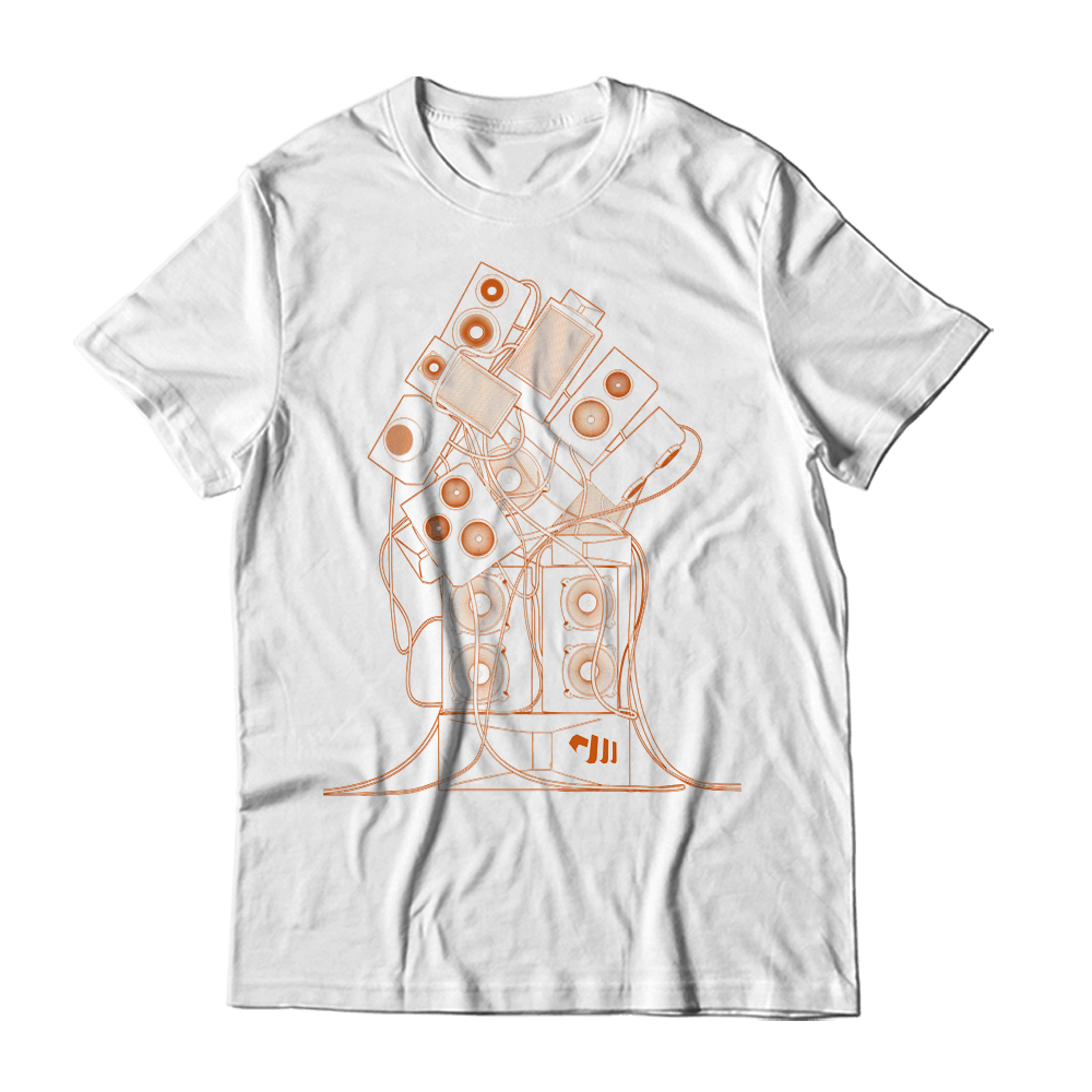 Buy Online Stanton Warriors - Orange Wireframe T-Shirt