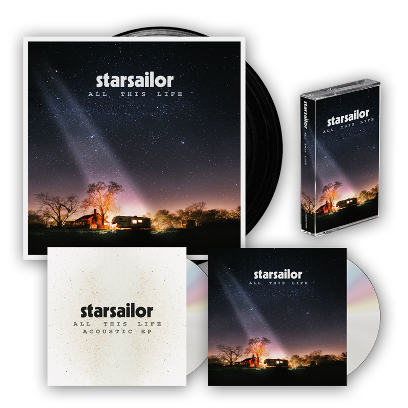 Buy Online Starsailor - All This Life CD (Signed) + Vinyl LP (Signed) + Cassette + Exclusive Acoustic CD EP