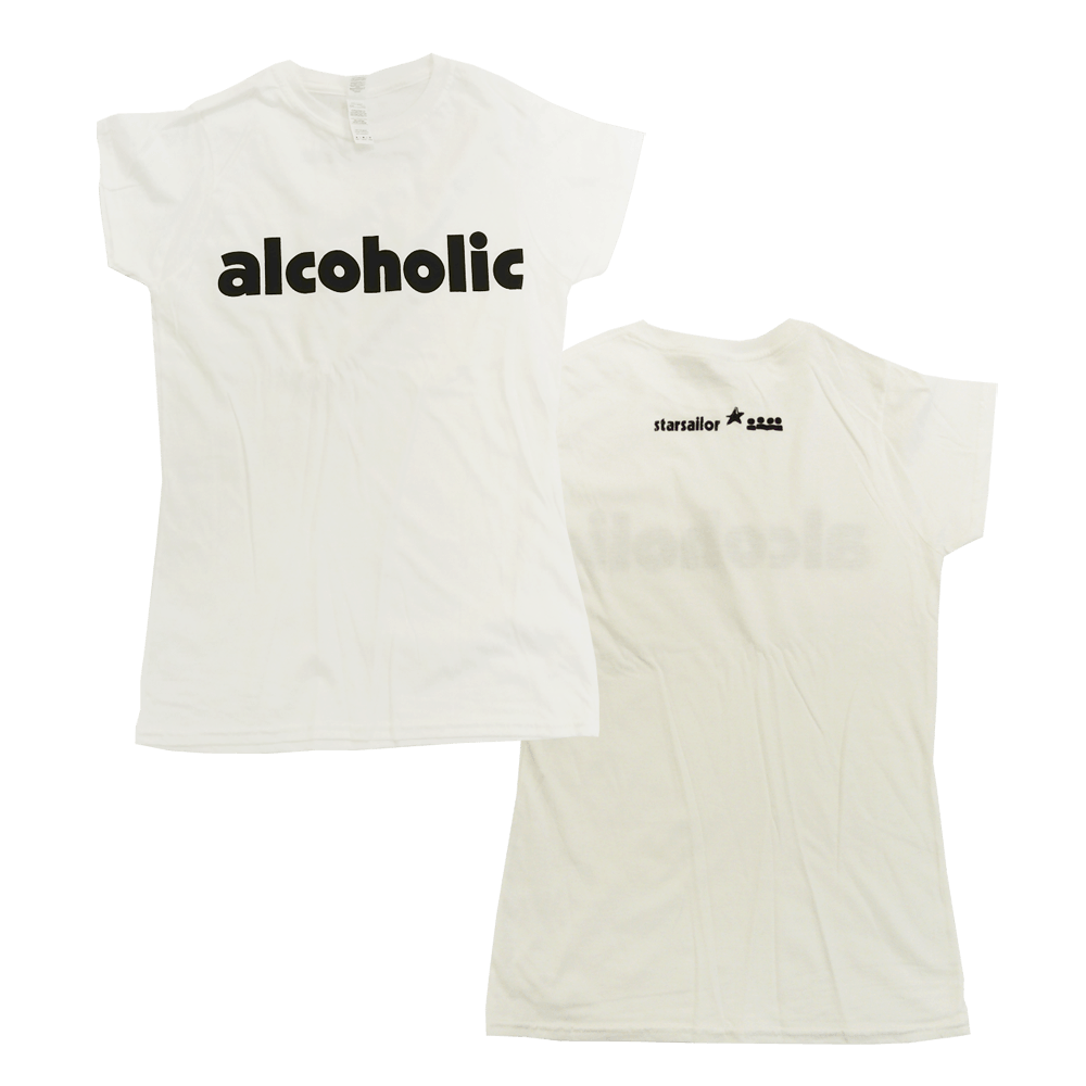 Buy Online Starsailor - Alcoholic Ladies T-Shirt