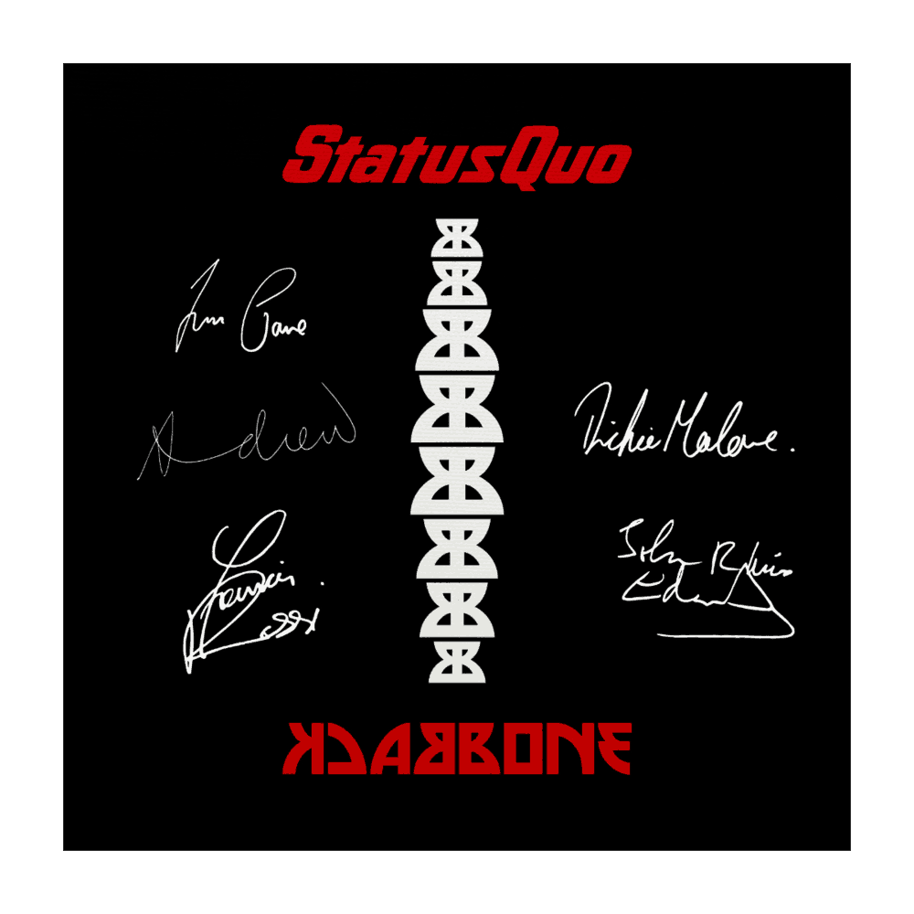 Buy Online Status Quo - Backbone Canvas (Signed, Limited To 100) 40cm x 40cm