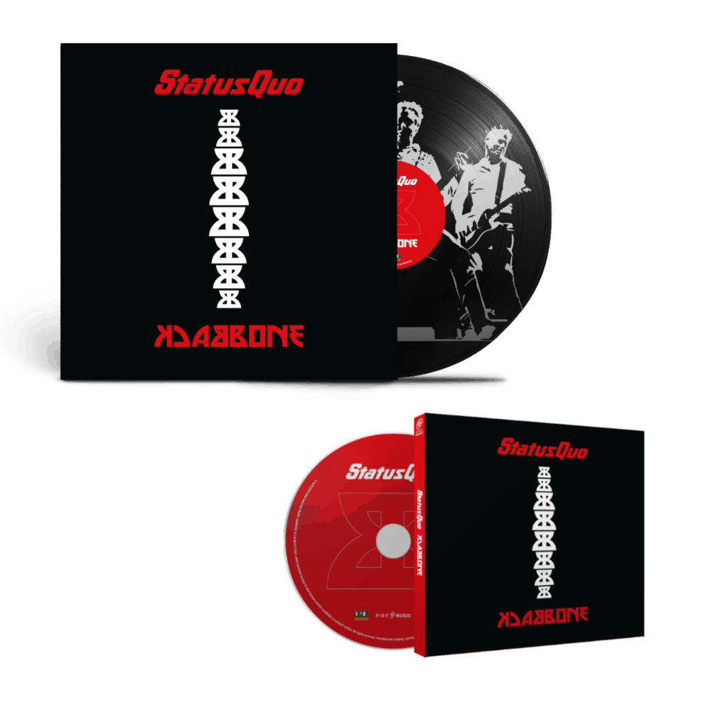 Buy Online Status Quo - Backbone Deluxe CD + Heavyweight Gatefold Picture Disc Vinyl