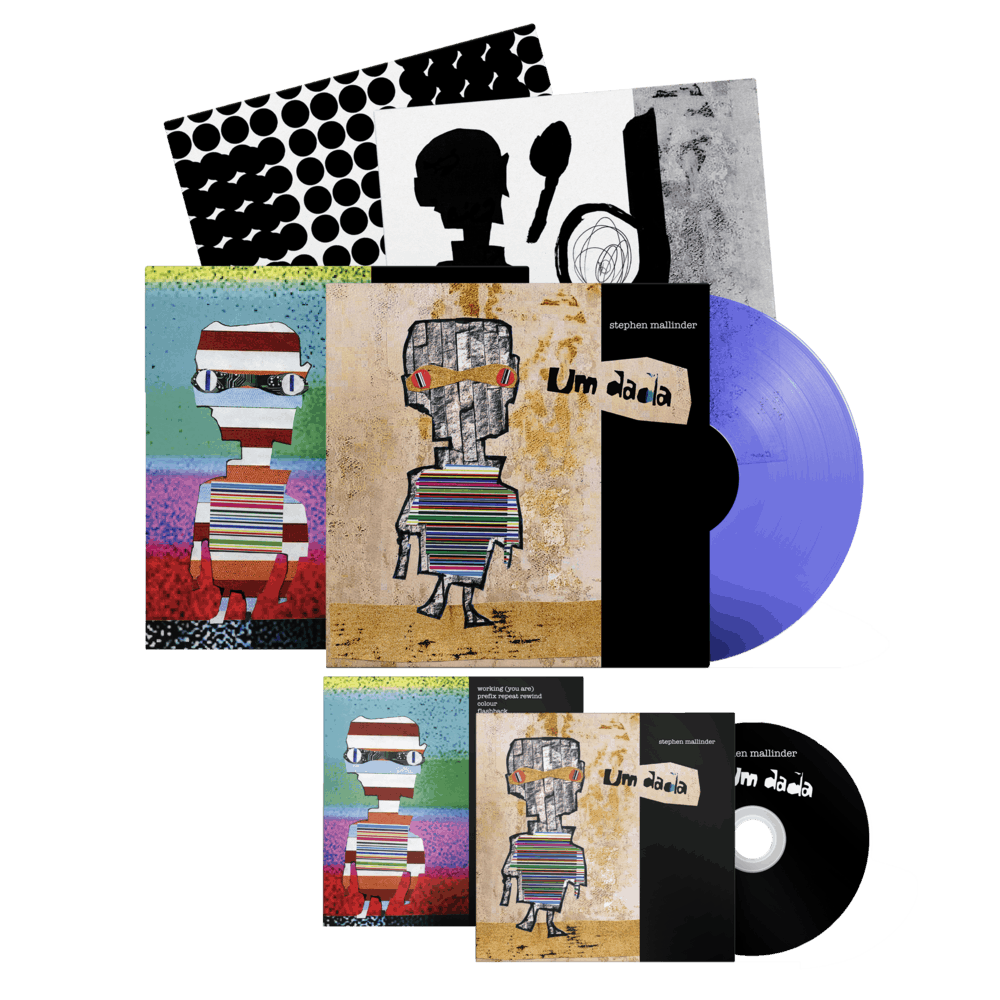 Buy Online Stephen Mallinder - Um Dada CD + Blue/Clear Ltd Edition Vinyl