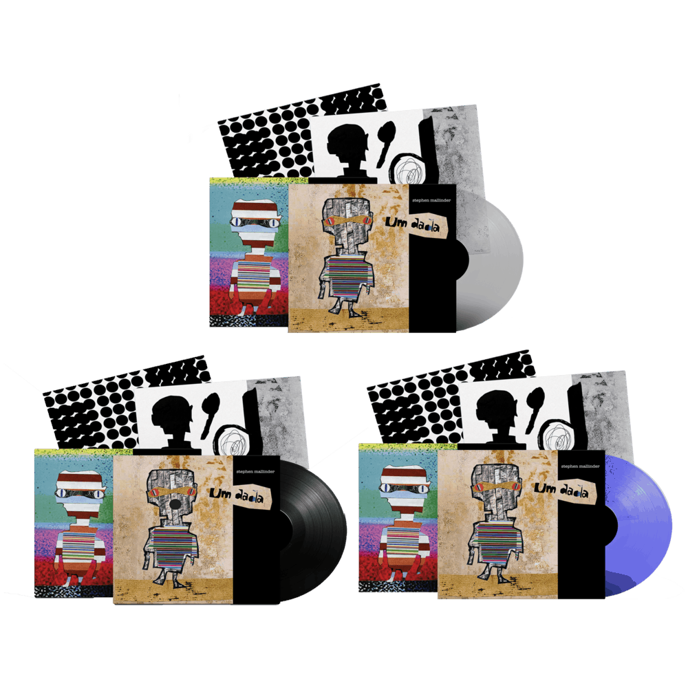 Buy Online Stephen Mallinder - Um Dada Clear Ltd Edition Vinyl + Blue/Clear Ltd Edition Vinyl + Black Vinyl (Signed)